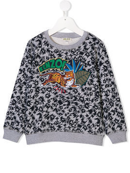 Kenzo Kids embroidered Tiger sweatshirt - Grey