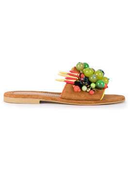 Elina Linardaki Grapevine sandals - Brown