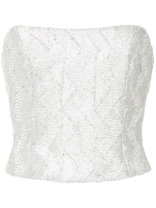 Manning Cartell No Filter bustier - Metallic