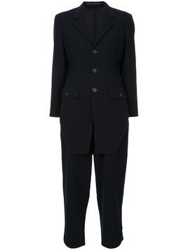 Yohji Yamamoto Pre-Owned front tail two-piece suit - Blue