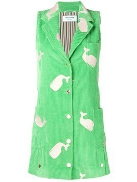 Thom Browne Whale Embroidery Deconstructed Dress - Green