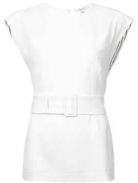 Derek Lam 10 Crosby Belted Tunic - White