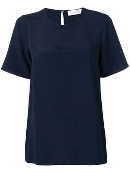 Glanshirt cut out detail T-shirt - Blue