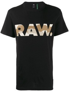 G-Star Raw Research logo print crew neck T-shirt - Black