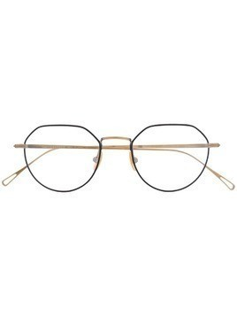 Lesca structured round glasses - Gold