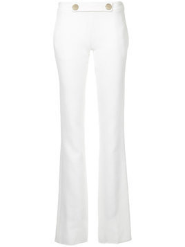 Giambattista Valli flared fitted trousers - White