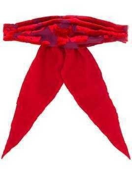 Ann Demeulemeester bow hair-tie - Red