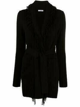 P.A.R.O.S.H. frayed-edge cotton cardigan - Black