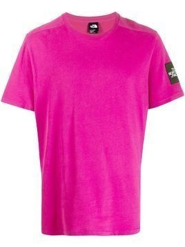 The North Face logo patch T-shirt - PINK