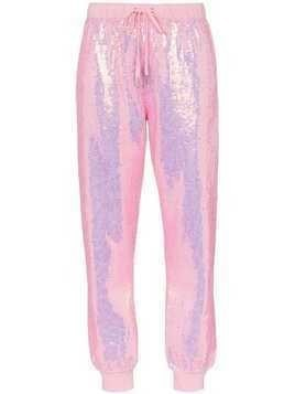 Ashish x browns badass sequin embellished track pants - Pink