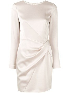 Paule Ka drape detail crepe dress - White