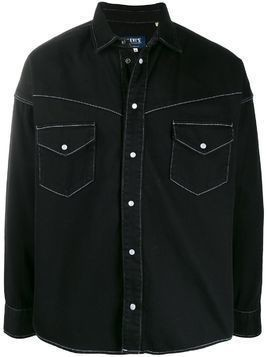 Levi's: Made & Crafted contrast stitch shirt jacket - Black