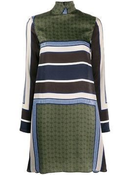 House of Holland colour-block flared dress - Green