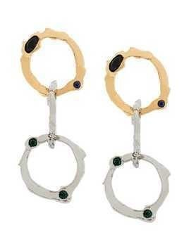Marni interlocking hoop earrings - Metallic