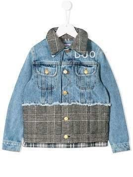 Duo contrast denim jacket - Grey