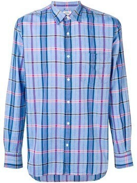 Aspesi check shirt - Blue