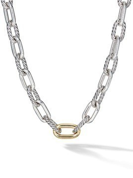 David Yurman 18kt yellow gold DY Madison large 13.5mm necklace - S8