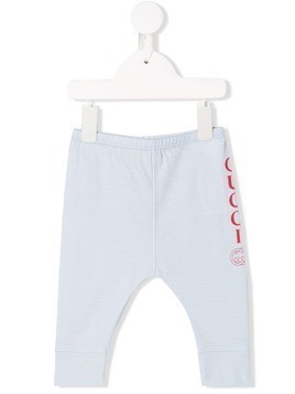 Gucci Kids logo print leggings - Blue