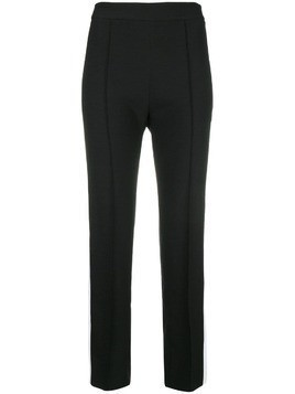 Hebe Studio side-stripe fitted trousers - Black