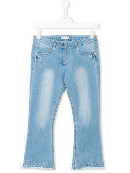 Elsy TEEN embellished frayed jeans - Blue