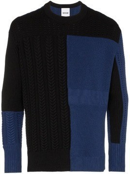 Koché patchwork colour-block jumper - Black