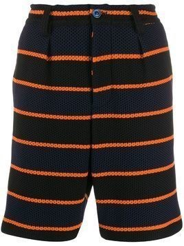 Marni striped shorts - Blue