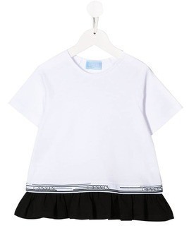 Lanvin Enfant logo stripe T-shirt - White
