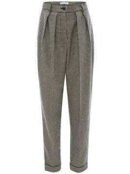 JW Anderson houndstooth carrot trousers - Blue