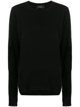 Maison Flaneur side-slit cashmere jumper - Black
