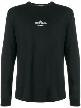 Stone Island Archivio long sleeve T-shirt - Black