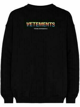 Vetements logo print sweatshirt - Black