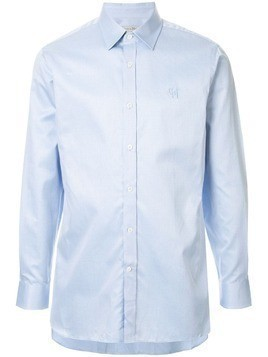 Gieves & Hawkes logo embroidered shirt - Blue