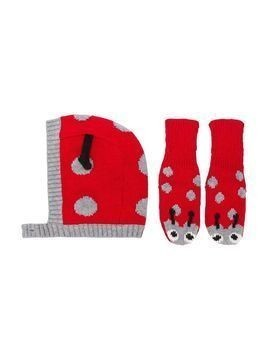 Stella Mccartney Kids ladybug hat and gloves - Red