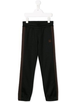 Acne Studios Kids contrast panel track pants - Black