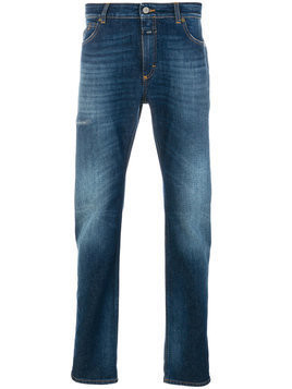 Closed - washed jeans with turn up cuffs - Herren - Cotton/Spandex/Elastane - 28 - Blue