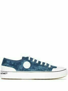 Stella McCartney denim lace-up sneakers - White