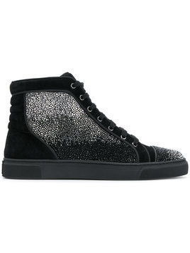Louis Leeman embellished hi-top sneakers - Black