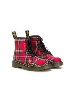 Dr. Martens Kids Junior 1460 Tartan boots - Red