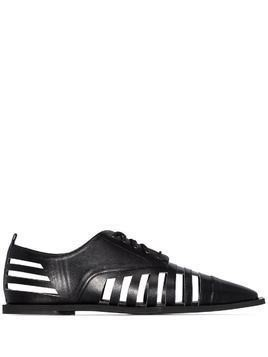 Rosie Assoulin cutout lace up Oxford shoes - Black