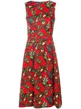 Oscar de la Renta sleeveless printed dress - Red