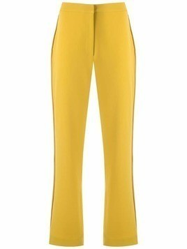 Mara Mac side stripes straight trousers - Yellow