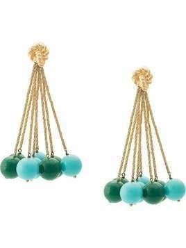 Aurelie Bidermann ball charm earrings - Blue
