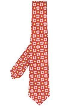 Kiton patterned tie - Red