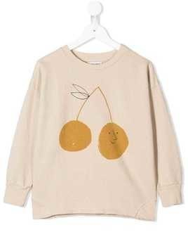 Bobo Choses cherry print sweatshirt - Neutrals
