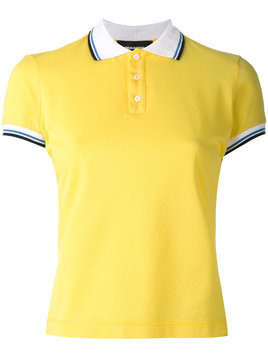 Dsquared2 contrast stripe polo shirt - Yellow & Orange