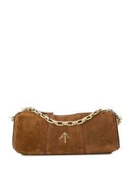 Manu Atelier mini cylinder cross body bag - Brown