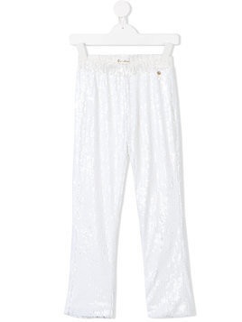 Le Mu sequinned trousers - White