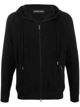 Lamberto Losani slim-fit zip-up hoodie - Black