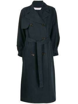See By Chloé double breasted trench coat - Blue