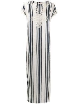 Tory Burch awning stripe beach kaftan - White